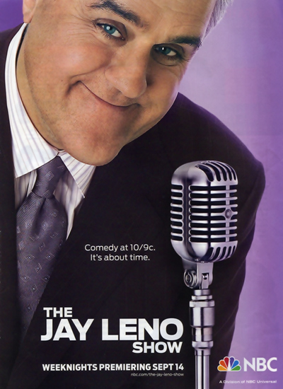 Jay Leno with Shure microphone