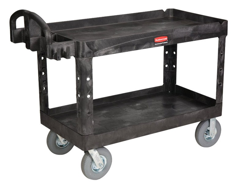 Rubbermaid Heavy Duty 2 Shelf Utility Cart