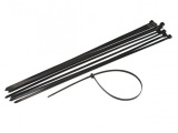 24 in. Black Heavy Duty Cable Ties, 10 Pack