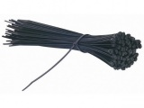 11 in. Black Cable Ties, 100 Pack