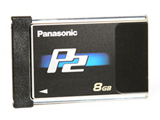 Panasonic P2 card, 8GB