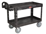 Rubbermaid Heavy-Duty 2 Shelf Utility Cart