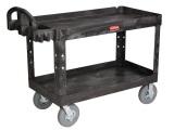 Rubbermaid Heavy-Duty 2 Shelf Utility Cart