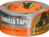 "Silver Gorilla Tape, 1.88"" x 12 yards"