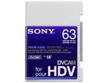Sony PDVM-63HD, DVCAM for HD Tape